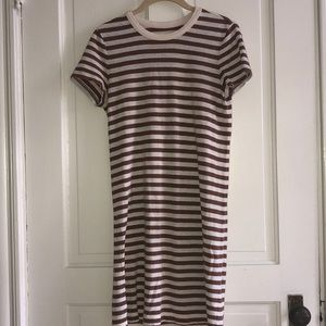 Lou & Grey Strip T-Shirt Dress